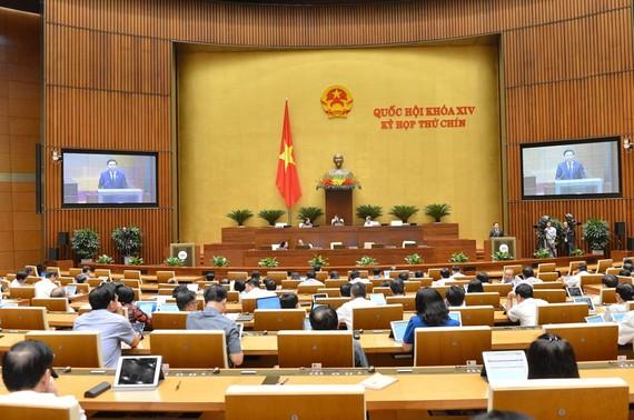 Phiên họp của Quốc hội ngày 11-6-2020. Ảnh: QUANG PHÚC