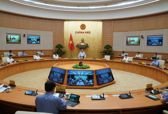Chính phủ họp ngày 7-8. Ảnh: QUANG PHÚC