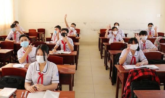 Học sinh Trường THCS Nguyễn Thị Minh Khai (phường 9, TP Cà Mau) trong giờ học