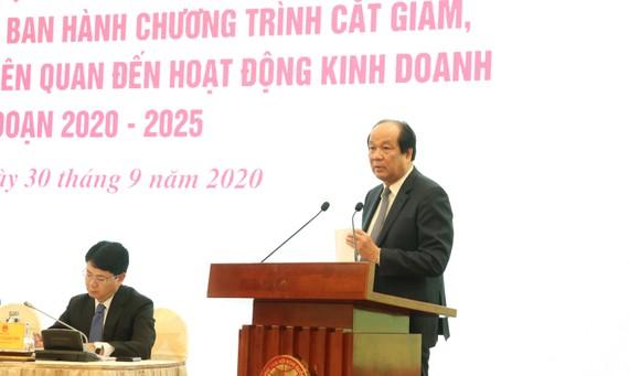 Bộ trưởng, Chủ nhiệm VPCP Mai Tiến Dũng phát biểu