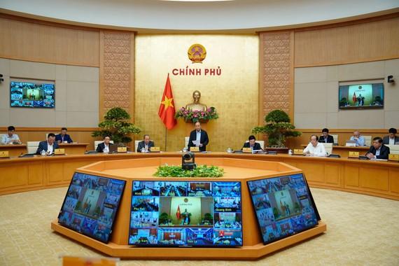 Hội nghị trực tuyến toàn quốc về tình hình thực hiện, giải ngân các chương trình, dự án ODA, vốn vay ưu đãi nước ngoài. Ảnh: QUANG PHÚC