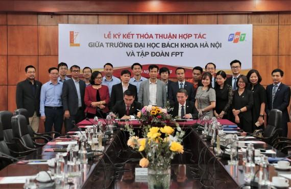 Tập đoàn FPT và Đại học Bách khoa Hà Nội ký kết hợp tác đào tạo và nghiên cứu công nghệ 4.0