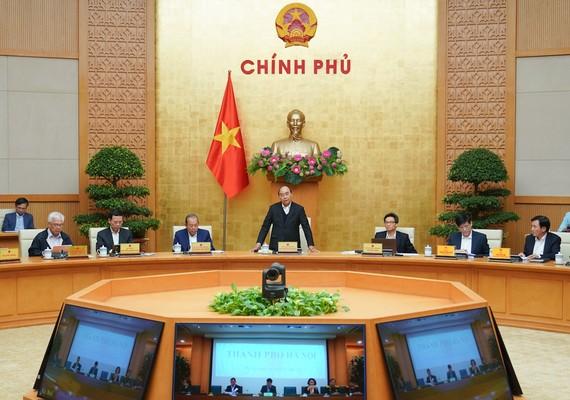 Chính phủ họp phiên thường kỳ tháng 11-2020. Ảnh: QUANG PHÚC