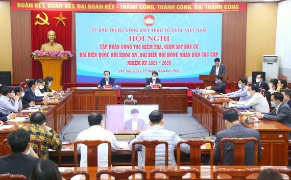 Hội nghị trực tuyến tập huấn công tác kiểm tra, giám sát bầu cử ngày 23-2
