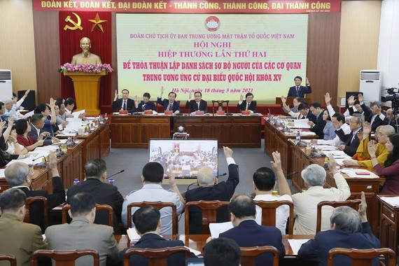 Thống nhất thông qua danh sách 205 người ứng cử đại biểu Quốc hội khóa XV ở Trung ương  