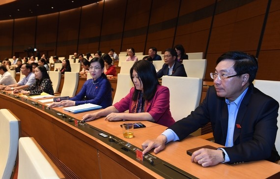Kỳ họp thứ 11 Quốc hội khóa XIV. Ảnh: VIẾT CHUNG