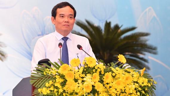 Phó Bí thư Thường trực Thành ủy TPHCM Trần Lưu Quang phát biểu tại Hội nghị Tổng kết công tác Tuyên giáo. Ảnh: VIỆT DŨNG