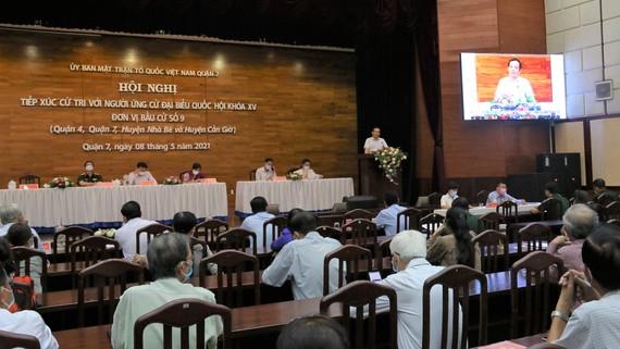 Lần đầu tiên TPHCM tổ chức hội nghị tiếp xúc trực tuyến giữa ứng cử viên với cử tri để vận động bầu cử
