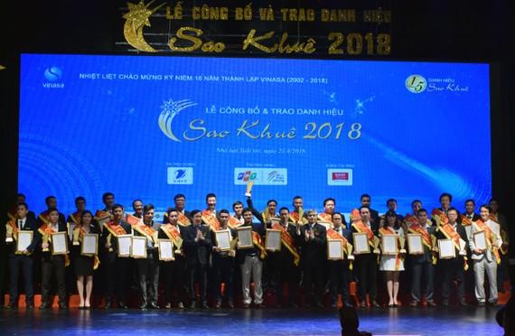 Danh hiệu Sao Khuê 2018 được trao cho 73 sản phẩm, dịch vụ và giải pháp phần mềm, CNTT xuất sắc
