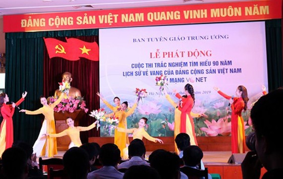 Phát động cuộc thi trắc nghiệm Tìm hiểu 90 năm lịch sử vẻ vang của Đảng Cộng sản Việt Nam