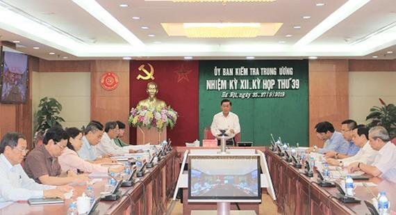 Kỳ họp 39 Ủy ban Kiểm tra Trung ương
