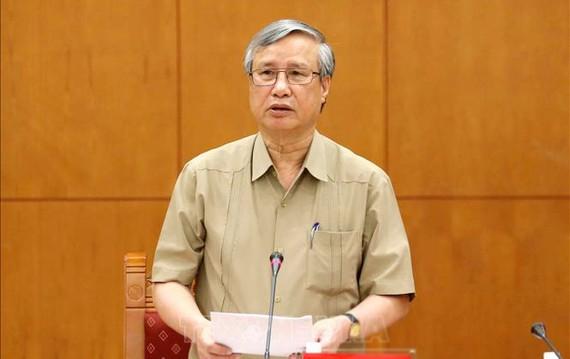 Đồng chí Trần Quốc Vượng, Ủy viên Bộ Chính trị, Thường trực Ban Bí thư Trung ương. Ảnh: TTXVN
