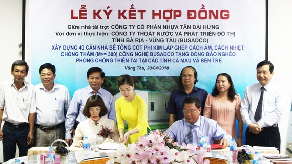 Lễ ký kết thực hiện 40 căn nhà cho người nghèo tại Vũng Tàu