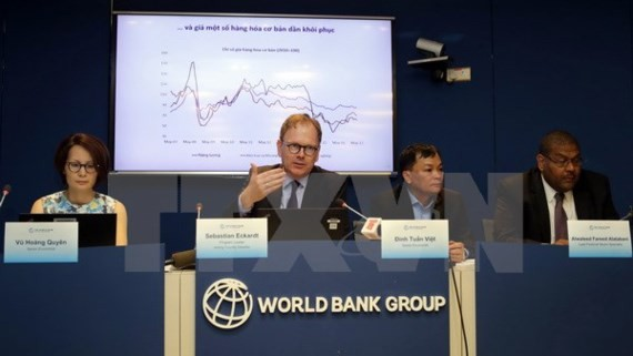 Sebastian Eckardt, Lead Economist and Acting Country Director for the World Bank in Vietnam speaks at the meeting (Photo: SGGP)
