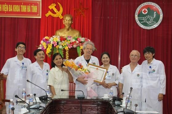 Dr. Alain Delbary at the ceremony (Photo: SGGP)