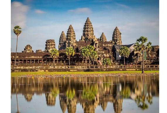 A tourist attraction in Cambodia (Photo: SGGP)
