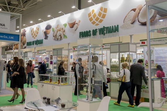 The pavilion of Vietnam at WorldFood Moscow 2018 (Photo: VNA)