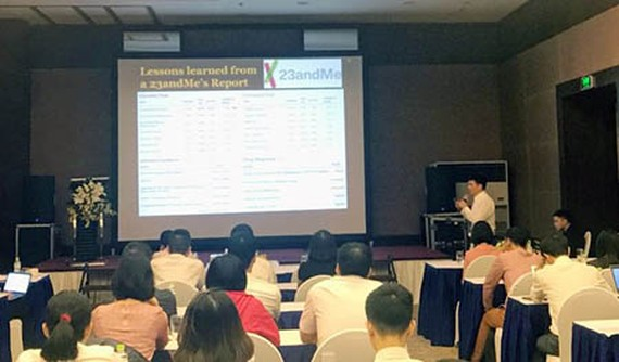 The recent international conference on biomedical research organized by the Institute of Big Data under Vintech in Hanoi attracted many Vietnamese Americans. Photo by D.L