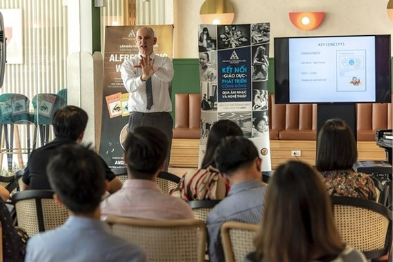 Andrew Higgins, Vice President of International Publications at Alfred Music, at the event (Photo: SGGP)