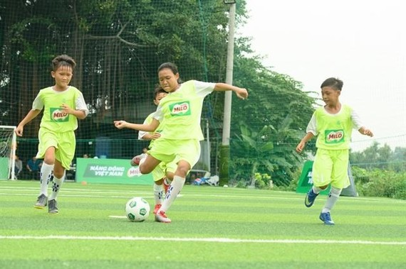 Eight young talented Vietnamese football players had diligent training before taking part in the first Milo Champions Cup in Spain. — Photo courtesy of Nestlé