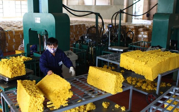 Upturn seen in rubber exports in seven months