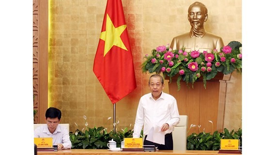 Deputy Prime Minister Truong Hoa Binh speaks at the conference (Photo: SGGP)