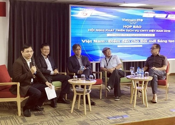 A press conference was held in HCM City on August 27 to introduce the Vietnam ITO conference 2019, which will be held at the Tan Son Nhat Saigon Hotel from October 23 to 25 (Photo: VNA)
