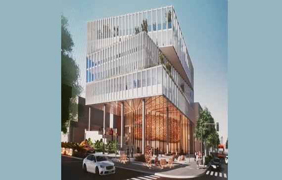 The architect's impression of the building center (Photo: SGGP)