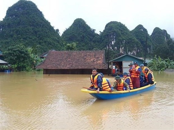 An area in Tan Hoa commune of Minh Hoa district, the central province of Thanh Hoa, is flooded in early September (Photo: VNA)
