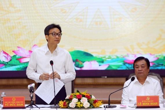 Deputy Prime Minister Vu Duc Dam  at the meeting (Photo: SGGP)