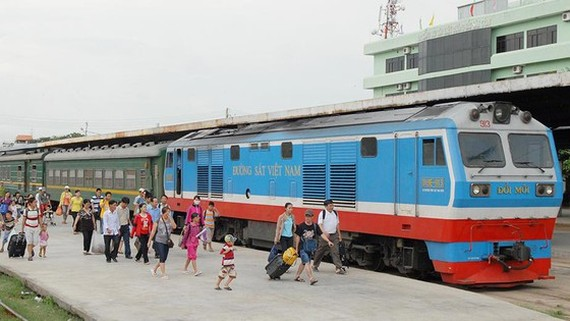 A train in Saigon Railway station (Photo: SGGP)