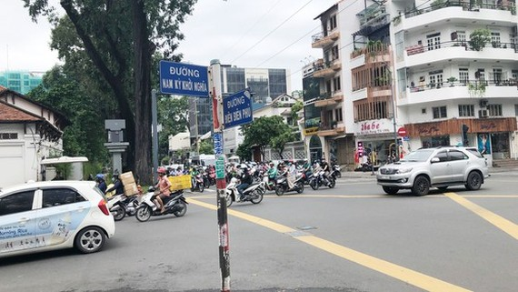 AI-based surveillance camera to catch traffic offenders in intersection Dien Bien Phu- Nam Ky Khoi Nghia (Photo: SGGP)