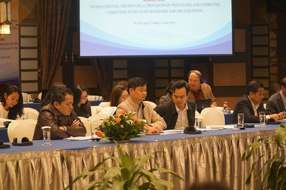 Participants at the business forum held yesterday in Hanoi. — Photo courtesy UNDP Vietnam