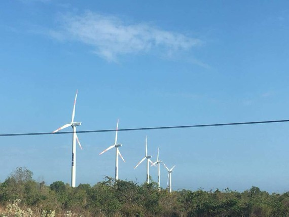 A wind power in the Mekong delta (Photo; H.H)