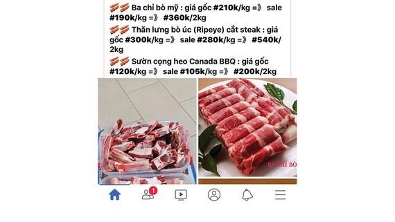 Imported pork sold in internet (Photo: SGGP)