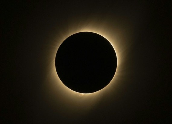 "An annular solar eclipse with the sun appearing as a ""ring of fire"" can be watched from Vietnam — AFP/VNA Photo"