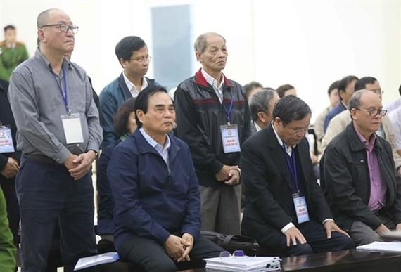 The defendants listen to the proposed sentences. (Source: VNA)