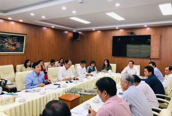 The Department of Health in Ho Chi Minh City convenes an emergence response meeting (Photo: SGGP)