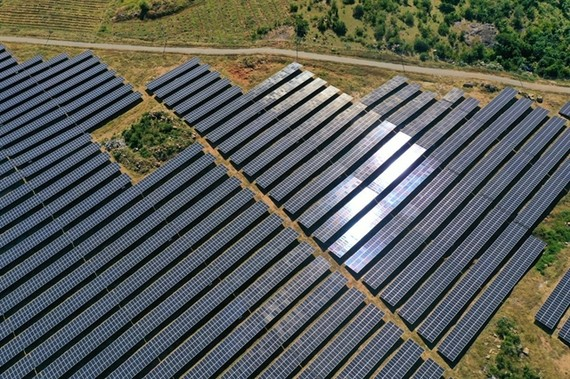 A solar energy project in Ninh Son District, southern Ninh Thuan Province which was put into operation last year VNA/VNS Photo