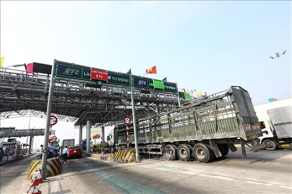 A toll station on Hanoi- Bac Giang Expressway. — VNA/VNS Photo