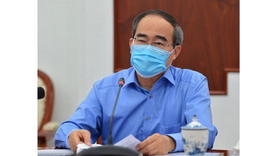 Party Chief Nguyen Thien Nhan at the conference (Photo: SGGP)