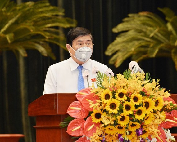 Chairman of the Ho Chi Minh City People's Committee Nguyen Thanh Phong (Photo: SGGP)