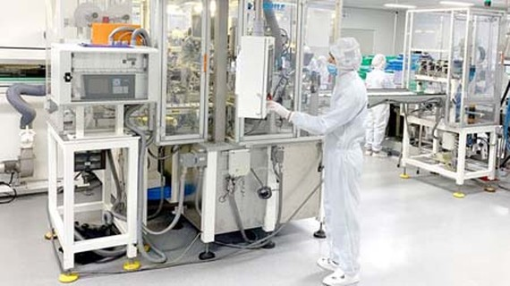 United Healthcare, a factory to produce healthcare equipment located in SHTP, is one of the businesses serious in its R&D. (Photo: SGGP)