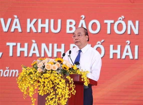 Prime Minister Nguyen Xuan Phuc speaks at the ceremony (Photo: VNA)