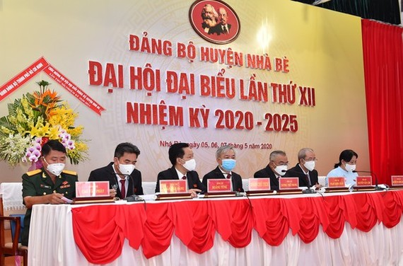 At the 12th Congress of Nha Be District Party Committee  (Photo: SGGP)