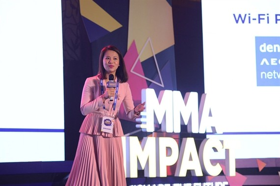 Phan Bich Tam, country manager of the Mobile Marketing Association for Vietnam, Myanmar and Cambodia, says that brands need to focus on innovation, keeping in mind consumers' behavioral changes during the COVID-19 pandemic. — Photo courtesy of MMA