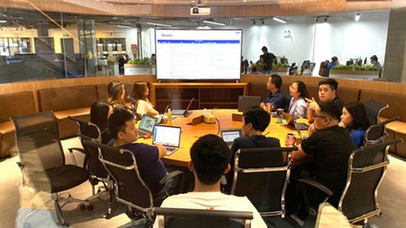 In HCMC, VNG is one of the leading IT businesses that have received sufficient support from the municipal authorities. (Photo: SGGP)