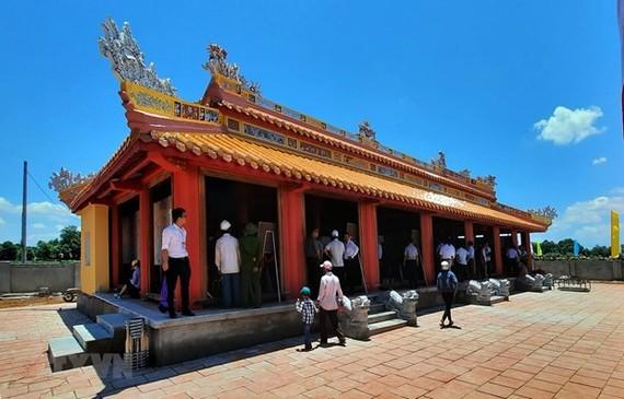 At the temple (Photo: VNA)