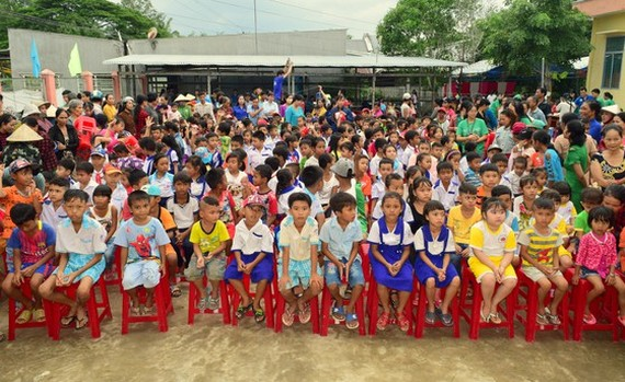 Students of a primary school in Soc Trang Province in the Mekong Delta (Photo: SGGP)