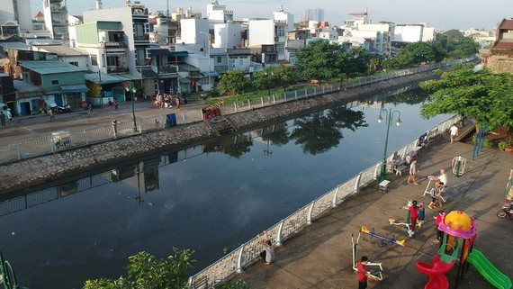 U Cay canal renewal project brings new face for district  8 (Photo: SGGP)